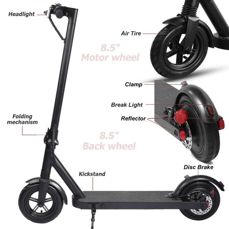 iEZway Electric Scooter EZ8 350W Dual Brake App LCD Display Waterproof Foldable Electric Scooter