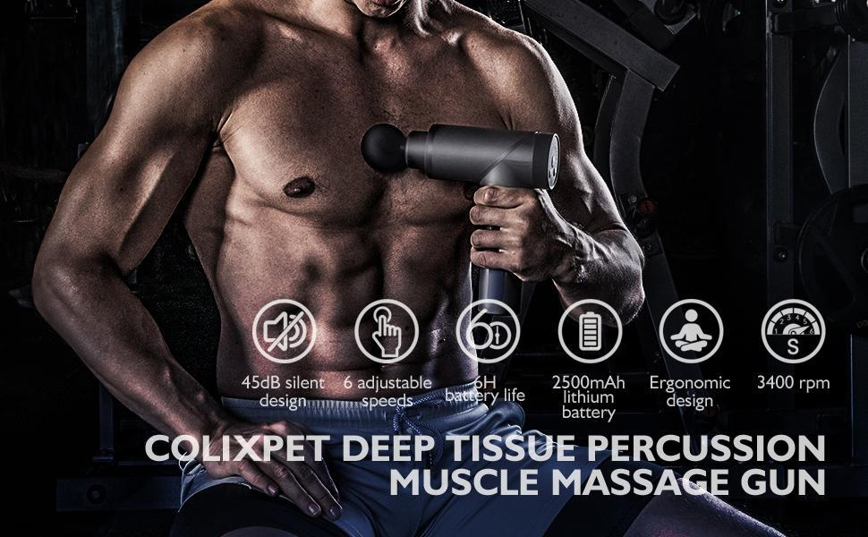 iEZway Athlete Massage Gun Deep Tissue Muscles hit the Massager Pain Relief Painful Muscle Relaxation8